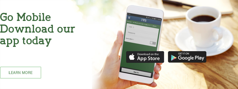 Download our banking app